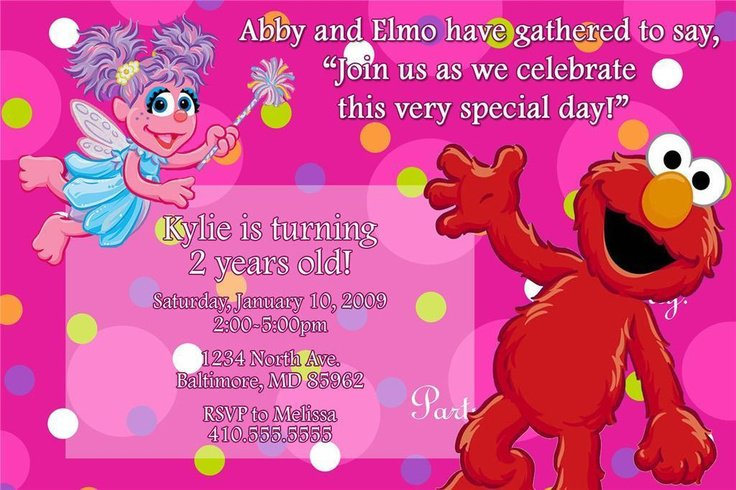 Elmo Invitations Personalized For Lauren