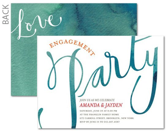 Engagement Party Invitations Tiny Prints