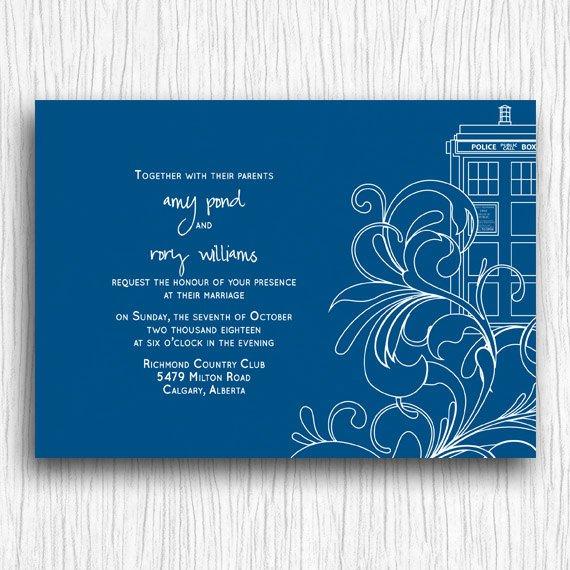 Etsy Doctor Who Wedding Invitations