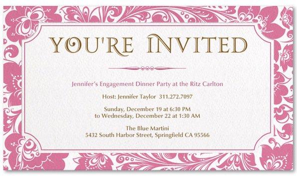 Evite Invitation For Her Birthday