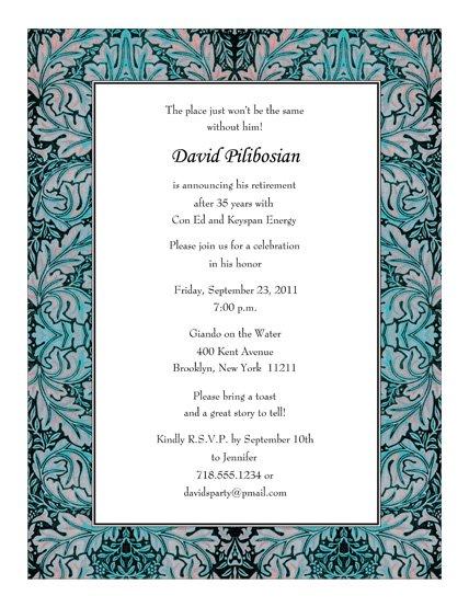 Examples Of Retirement Invitations