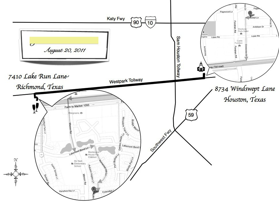 Examples Of Wedding Invitation Maps