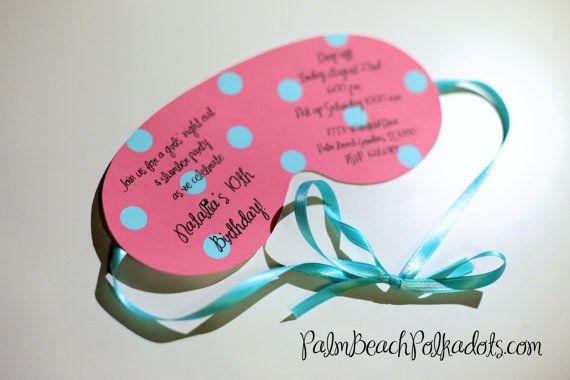 spa eye mask invitations