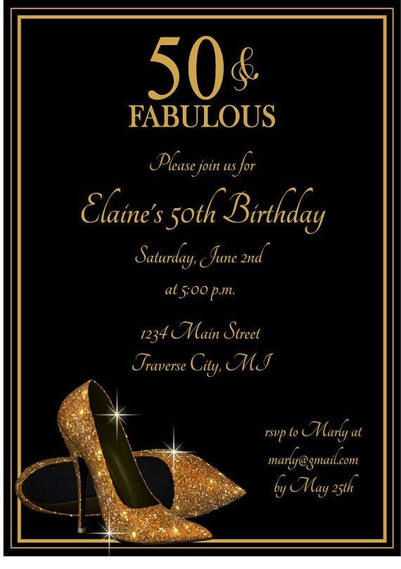 Fabulous 50th Birthday Invitation Wording