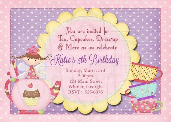 Fairy Tea Party Invitation Wording
