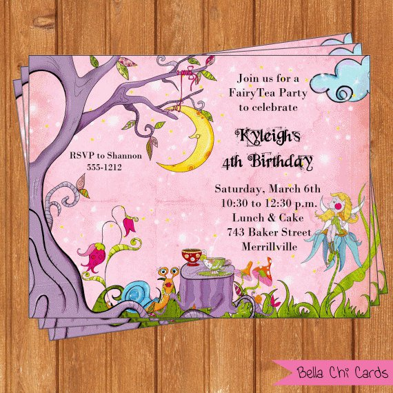 Tea Party Invitations Printable – Fairy Tea Party Invitations