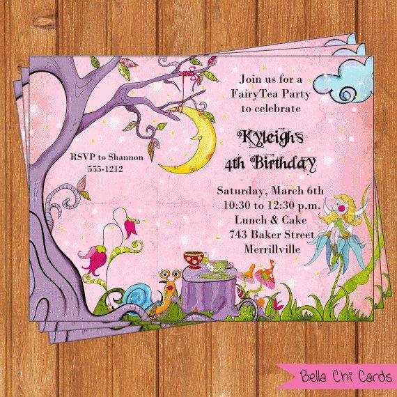 Fairy Tea Party Invitations Printable