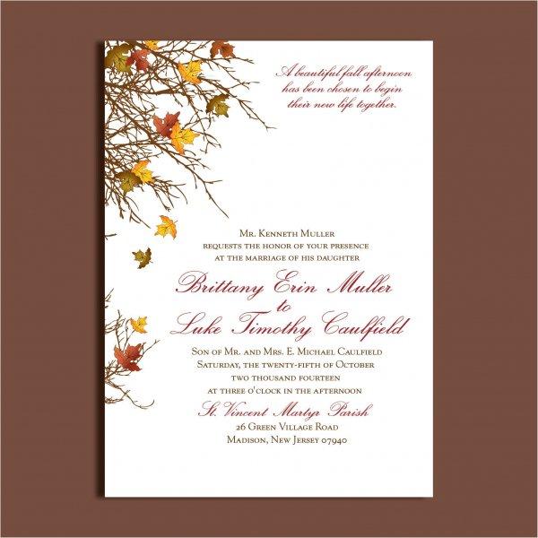 Fall Baby Shower Blank Invitations
