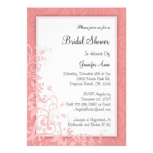 Fall Bridal Party Invitations