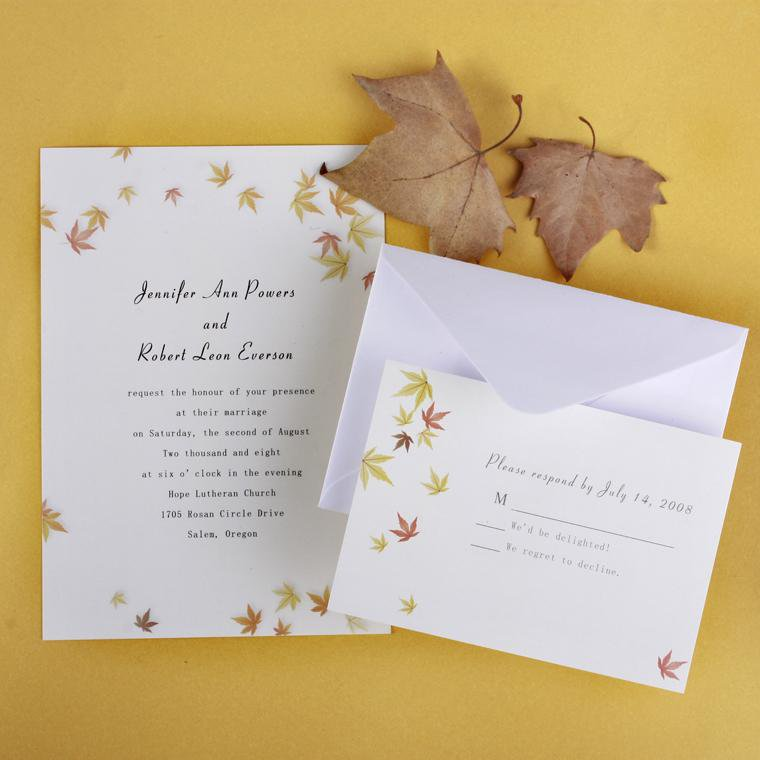 Fall Event Invitations