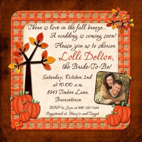 Fall First Birthday Invitations