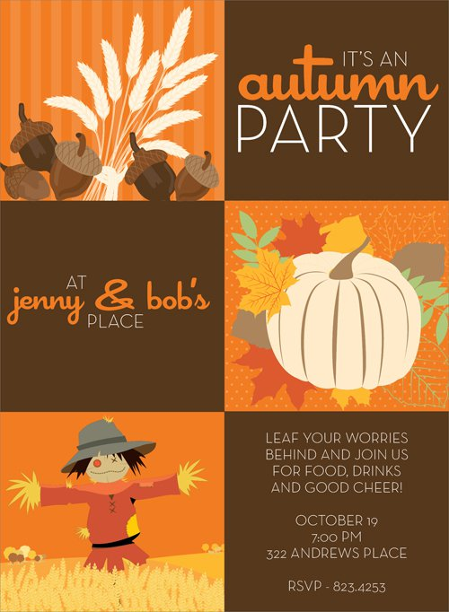 Fall Harvest Party Invitation Wording