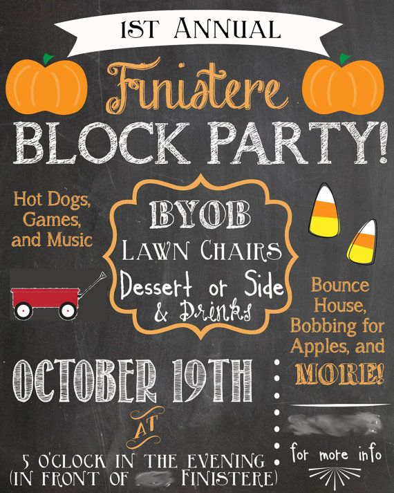 Fall Neighborhood Party Invitation Ideas