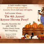 Fall Party Invitation Wording Ideas
