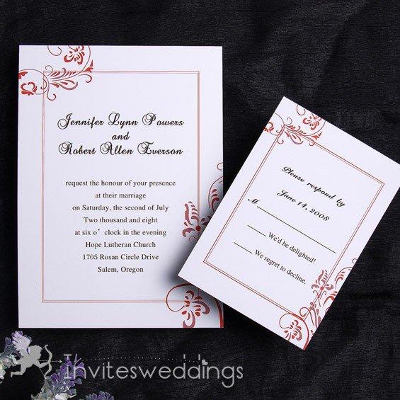 Fall Wedding Invitations Cheap