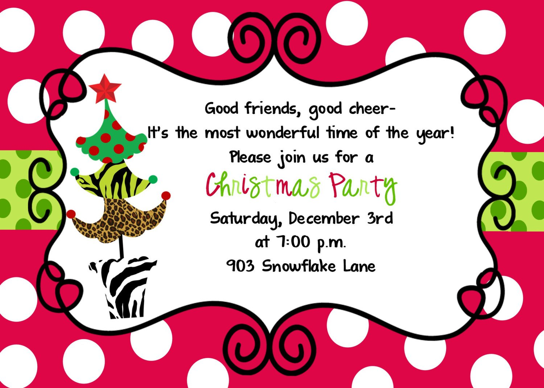 Family Christmas Invitations Rhymes