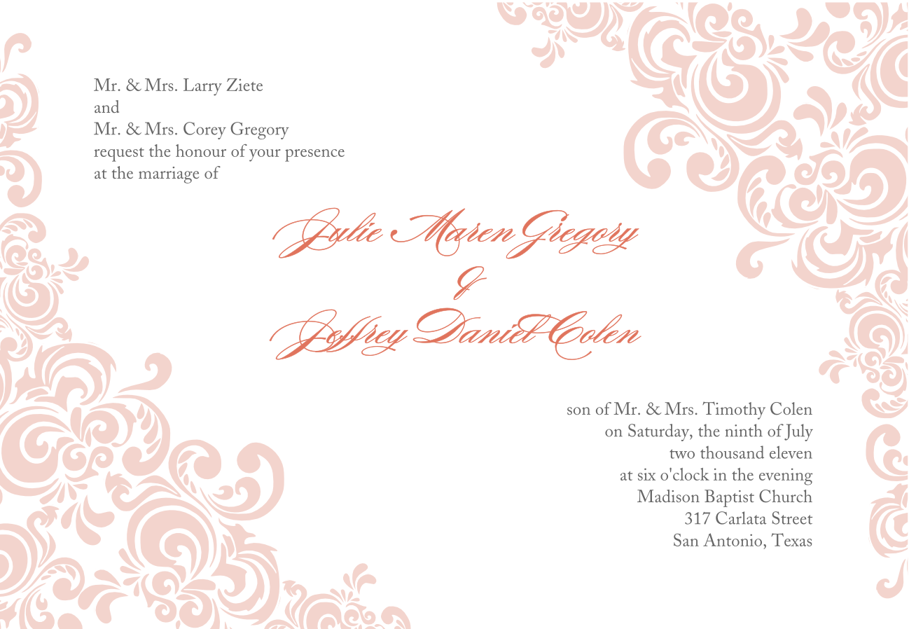 Fancy Blank Invitation Templates