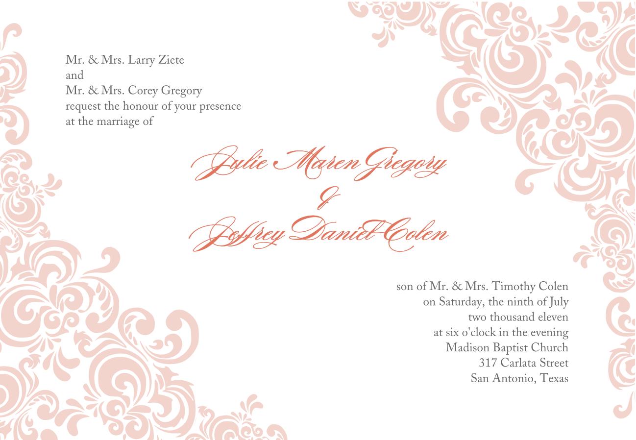 Blank Invitation Templates – Fancy Invitation Templates
