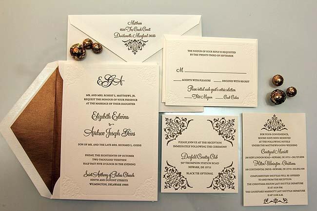 Fancy Blank Invitations