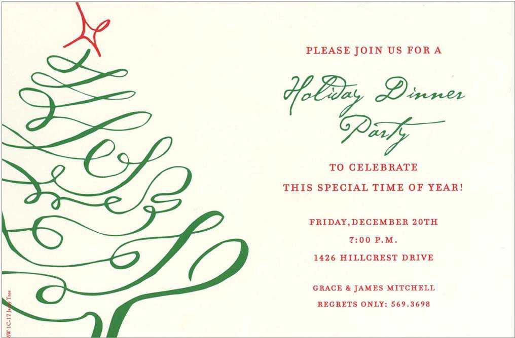 Fancy Christmas Party Invitation Wording