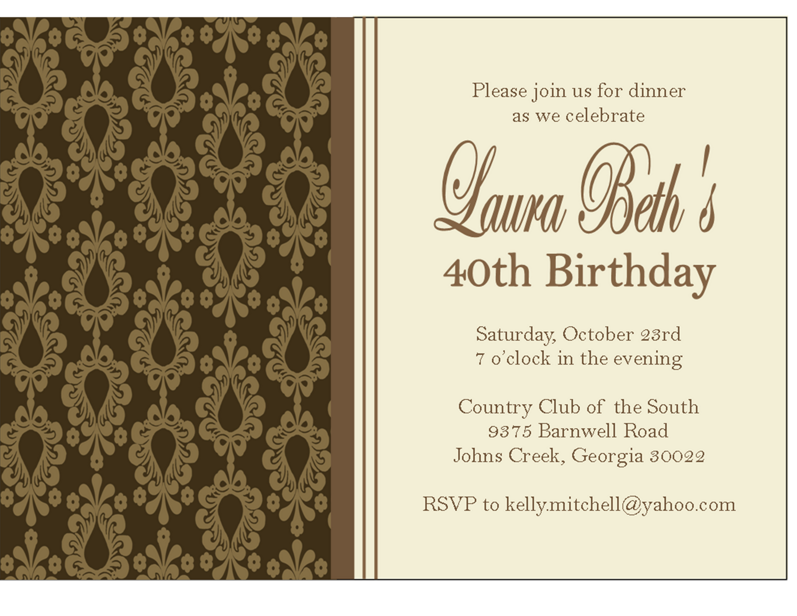 Fancy Dinner Invitation Wording