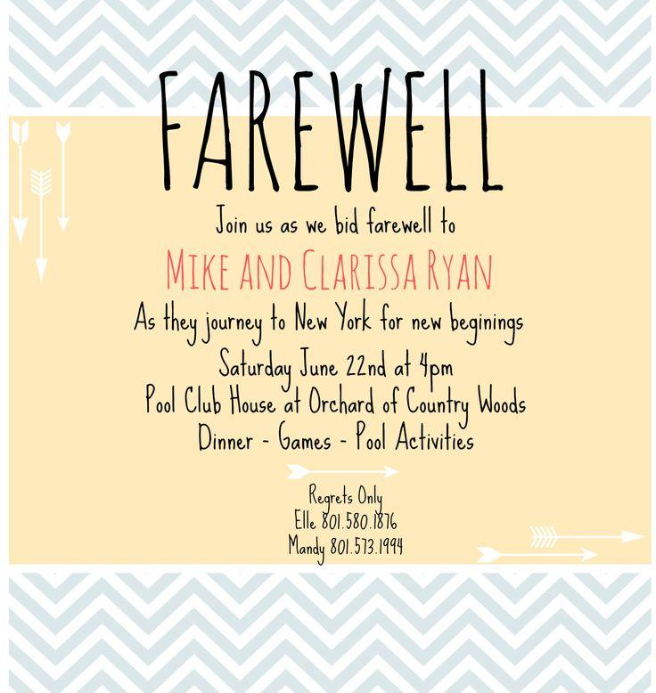 Farewell Invitation Email