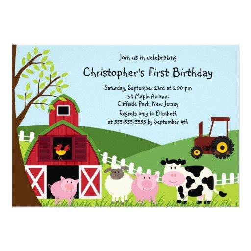 Farm Animal Invitations