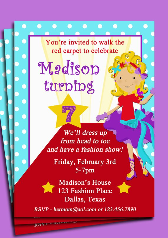 Fashion Show Birthday Invitation Wording