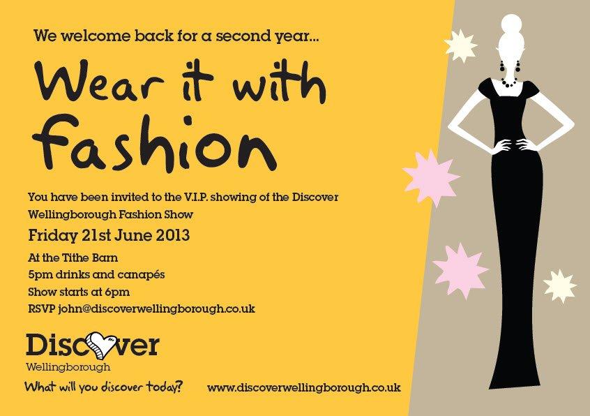 Fashion Show Invitations Example