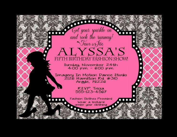 Fashion Show Invitations Printable