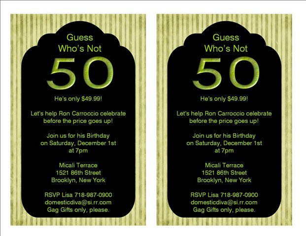 Female 50th Birthday Invitations