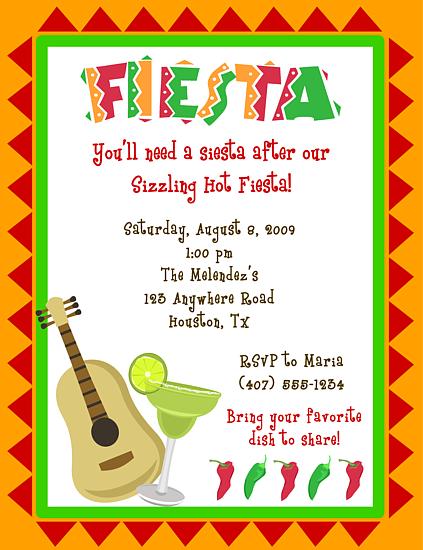 Fiesta Baby Shower Invitation Wording
