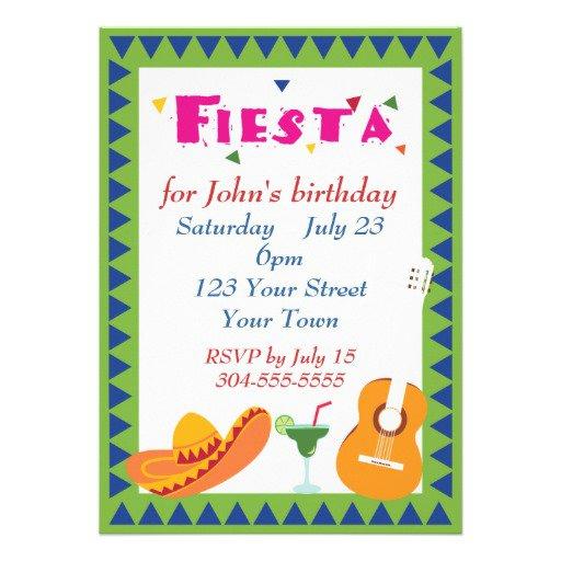Fiesta Invitations Free