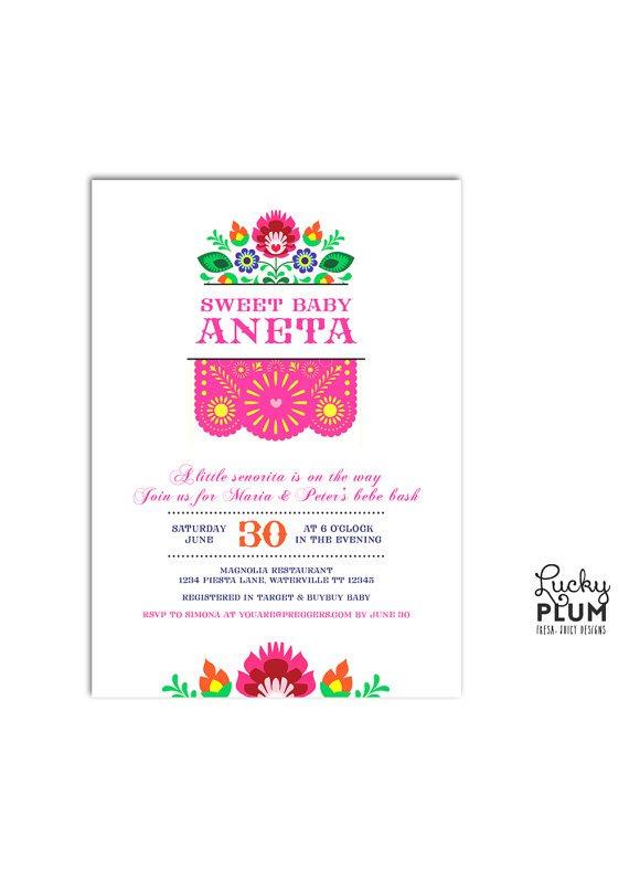 Fiesta Themed Baby Shower Invitation Wording