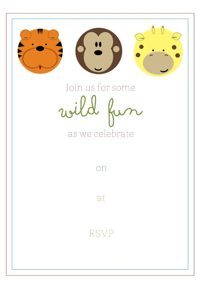 Fill In The Blank Invitations Free