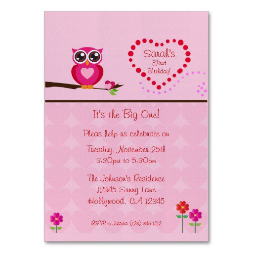 First Birthday Invitation Vertical Templates