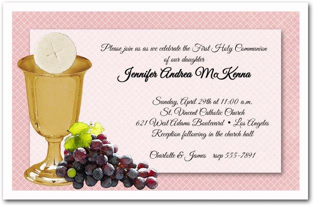 First Communion Invitation Verses