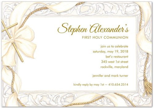 First Communion Invitations In Spanish