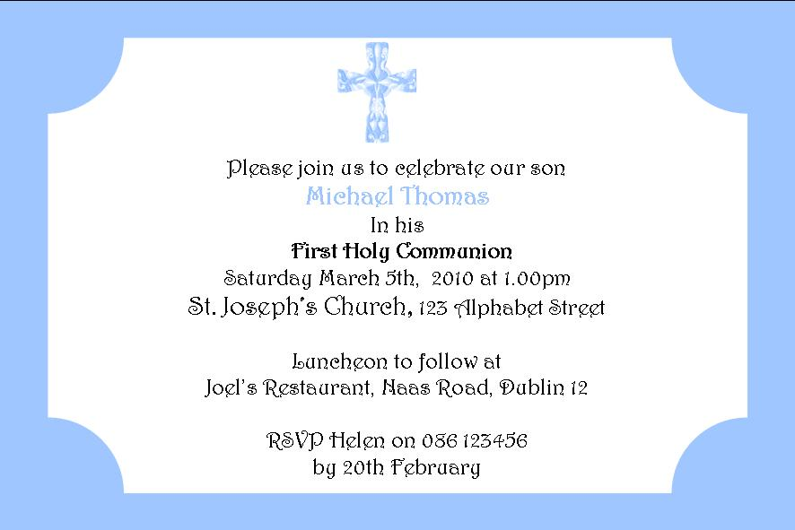 First Communion Invitations Wording In Spanish