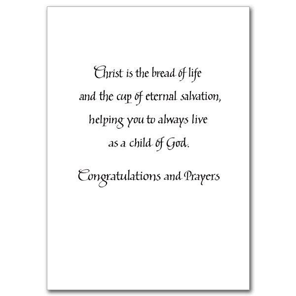 First Holy Communion Invitation Verses