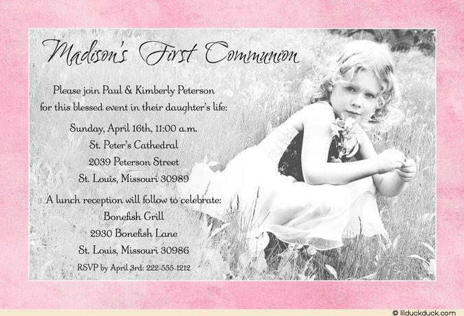 First Holy Communion Invitations Catholic