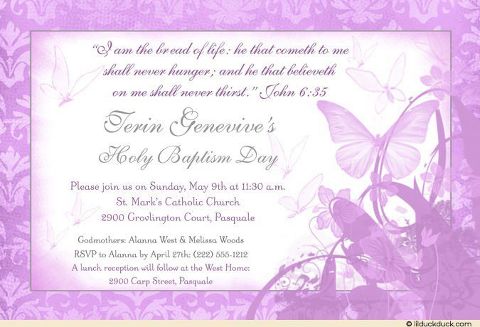 First Holy Communion Party Invitation Wording