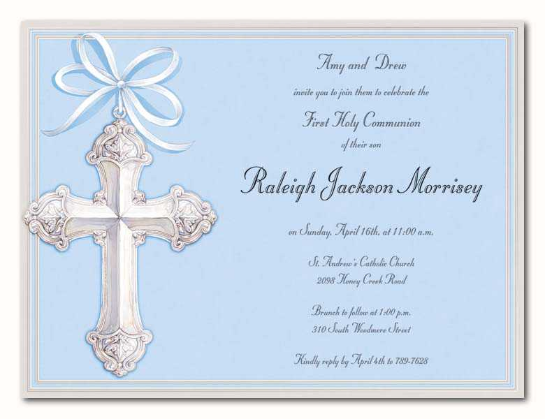 First Holy Communion Reception Invitations