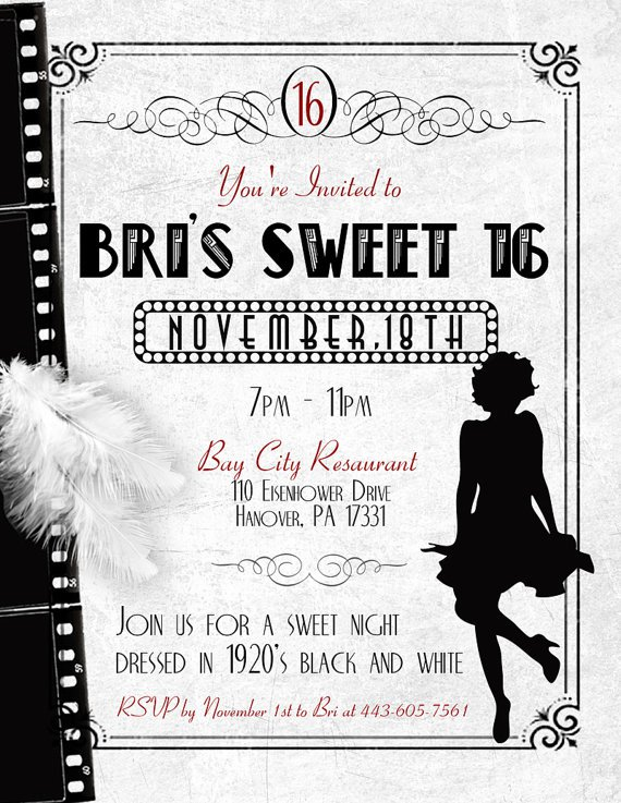 Flapper Invitations