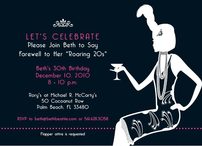 Flapper Party Invitations