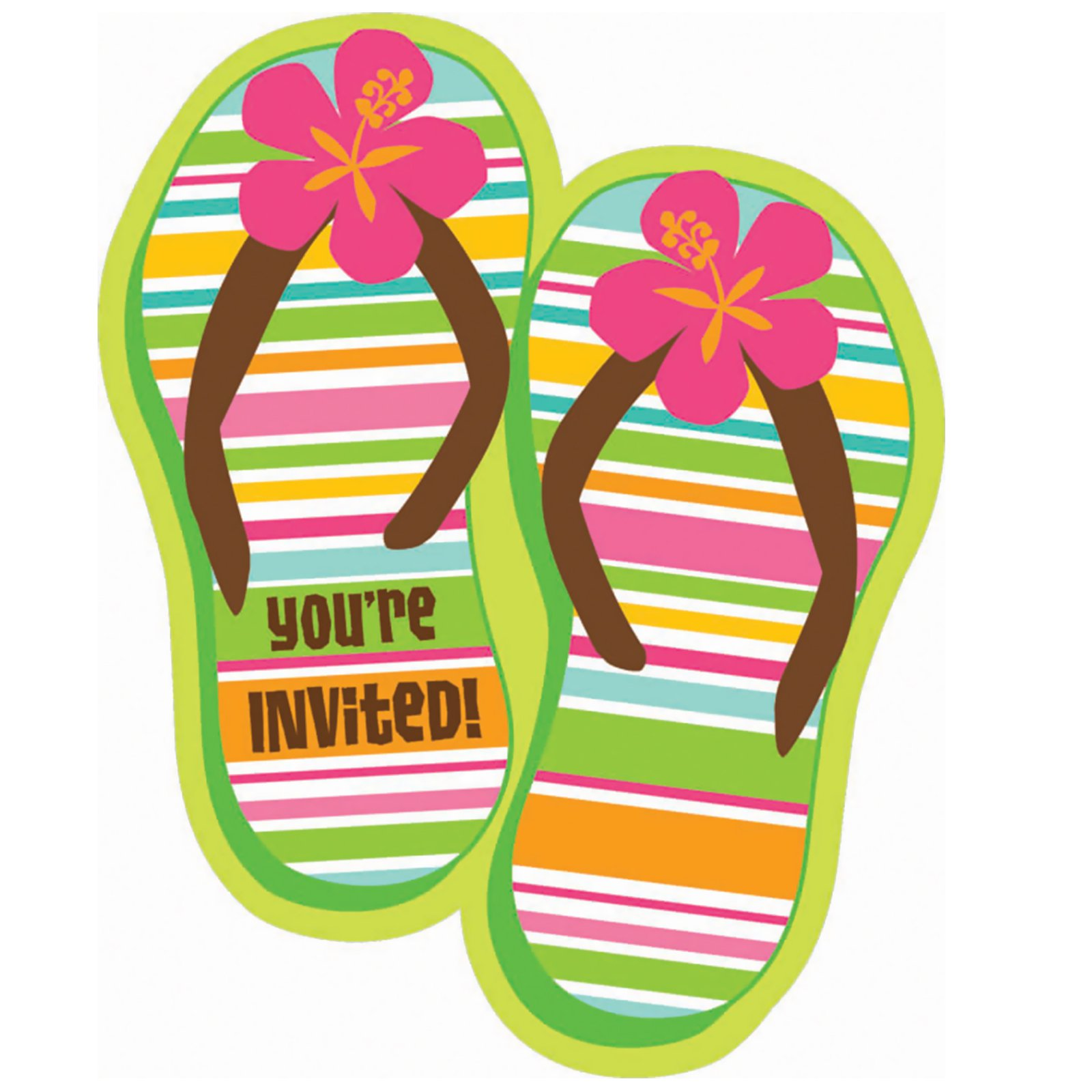 Flip Flop Invitation Templates