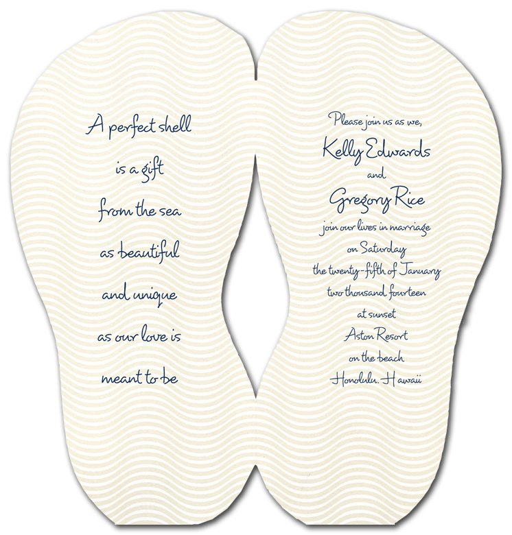 Flip Flop Invitation Templates Pattern
