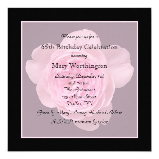 Flower Birthday Invitations