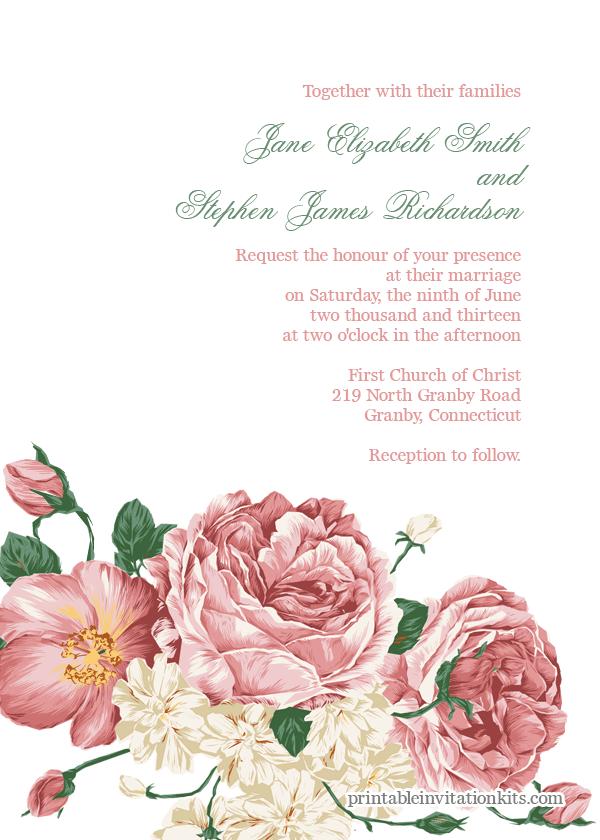 Flower Invitation Templates