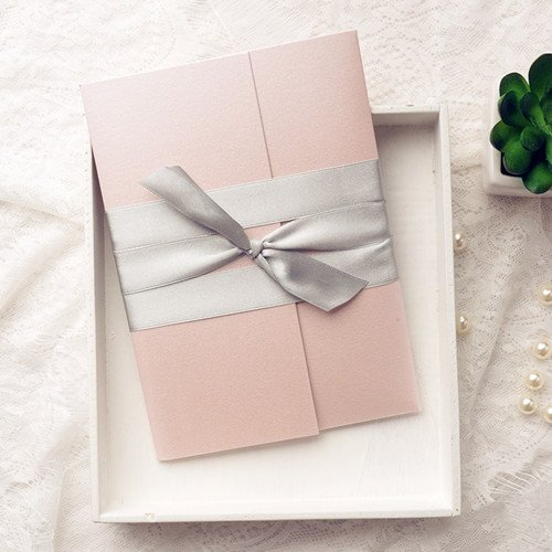 Flower Pocket Wedding Invitation